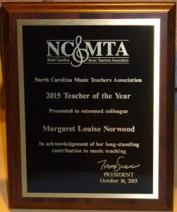 Margaret Louise Norwood, MM, NCTM